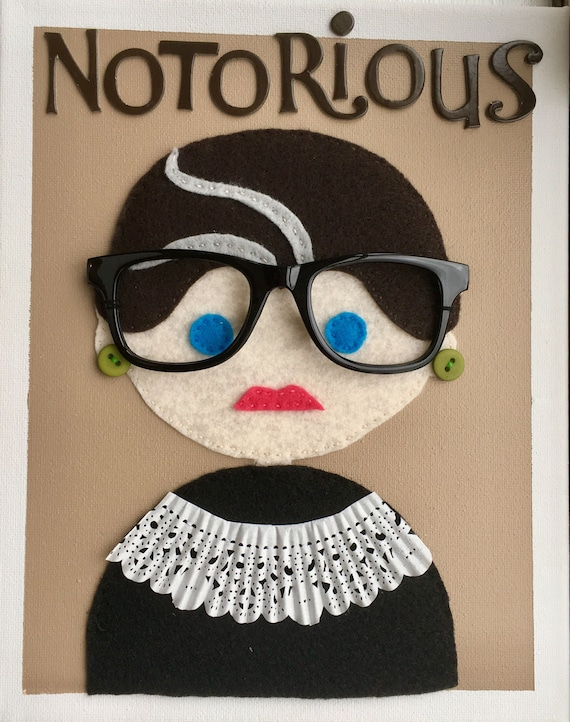 Supreme Court Justice Ruth Bader Ginsburg Children S Etsy