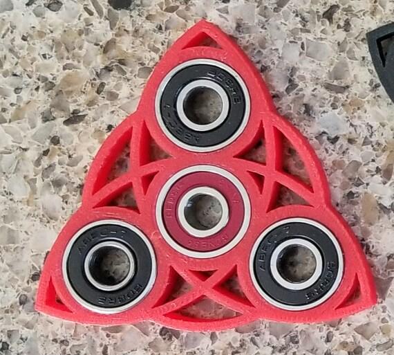 Fidget Spinner Celtic Cross 3D Printed Black