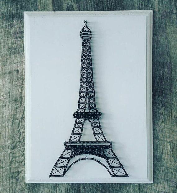 Eiffel Tower Custom String Art On Wooden Plaque Paris Etsy