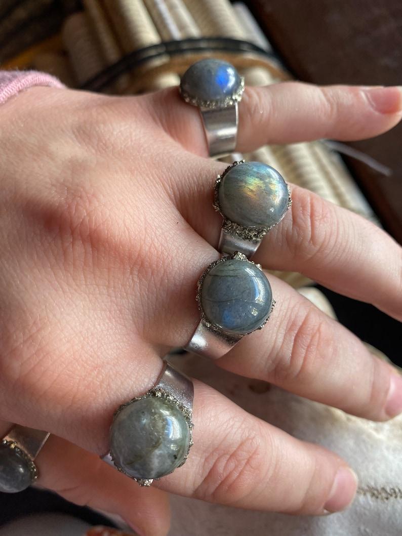 Crystal labradorite Ring
