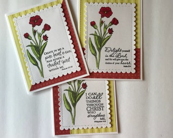 Bible verse card set, Scripture cards, Christian cards, Encouragement cards,