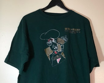 69393ac4 Vintage Nabisco/Wal-Mart Dark Green T-Shirt / 100% Cotton / Made in the USA  / Unisex Adult Size Extra Long / XL