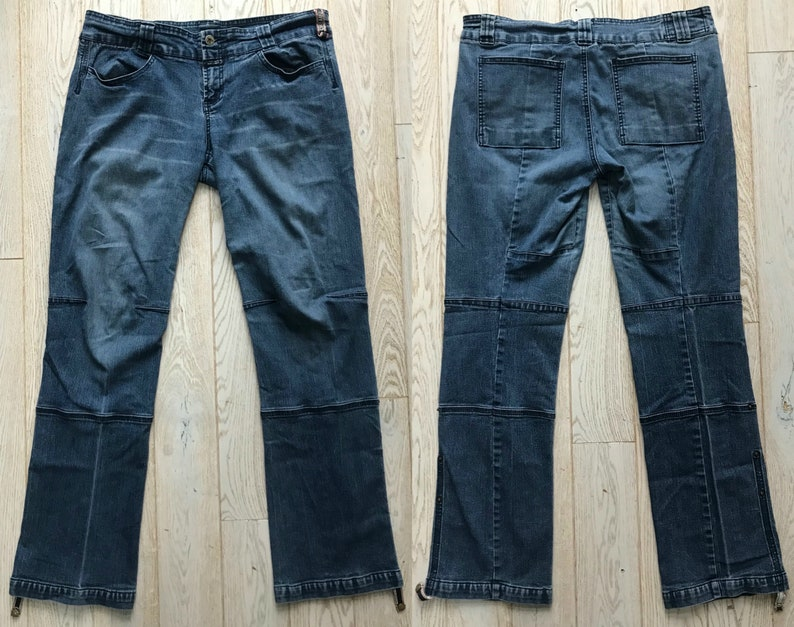 81359a8d Vintage 90s Marithe Francois Girbaud Blue Jeans / Fold Up Cuff   Etsy