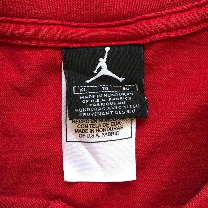 3590293f812c3 Vintage Retro Bright Red Nike Air Jordan 21st Anniversary T-Shirt / 100%  Cotton / Unisex Adult Size Extra Large XL / Free US Shipping