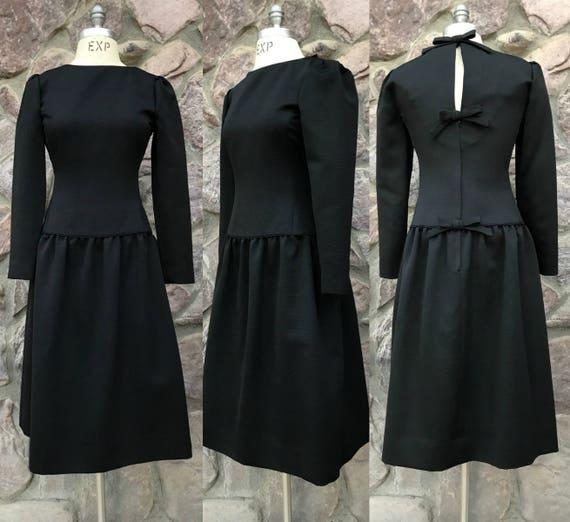 c281a1b0ee5c Vintage 70s-80s Kappi Little Black Dress / Minimalist Cocktail | Etsy