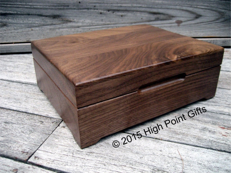 Wedding Memory Box Keepsake Box 8x10 Walnut Keepsake Box First Communion Personalized Wooden Box Engraved Valet Box