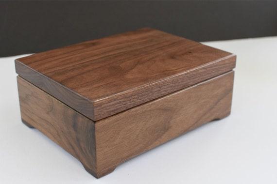 Wooden Keepsake Box Memory Box Walnut Keepsake Box First Communion Personalized Wooden Box