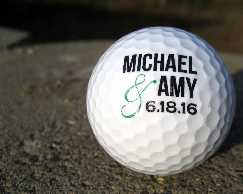 Personalized Golf Balls SET OF 6 Custom Golf Balls