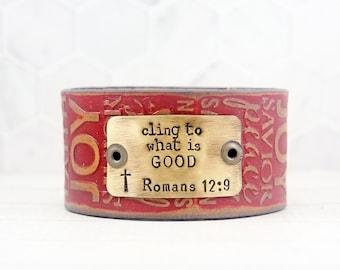 Inspirational Womens Bracelet, Western Jewelry for Her, Womens Leather Cuff Bracelet, Inspirational Gifts for Women, Womens Boho Bracelet