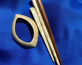 Handcrafted Maple Wood Hair Stick Made In Hawaii