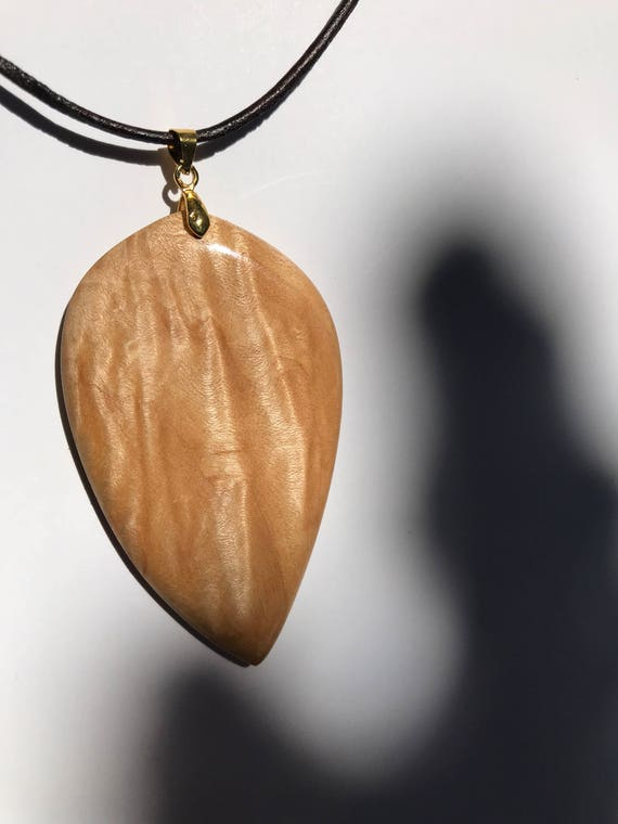CowboyCowgirl Maple and Walnut Hardwood Pendant #3902 Handcrafted and Made in Montana