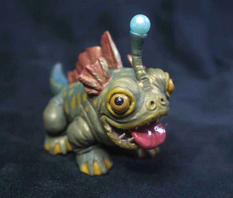 BULBDOG Sculpture from ARK: Survival Evolved | Custom ARK Aberration  Miniature Polymer Clay Monster | Handmade Gift for Gamers or Geeks