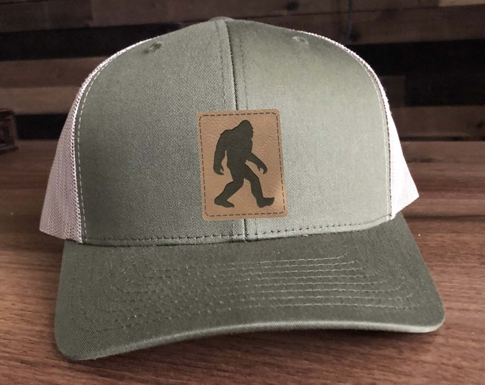 Squatch Big Foot I Believe Trucker Hat - Big Foot Mesh Back with Patch Choices of Hat Color, Patch Color
