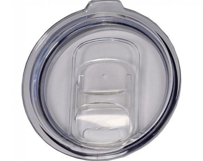 Spill Proof Slide Lid - Polar Camel  10 , 12, 20 or 30 ounce - Clear Plastic Tumbler Lid Only