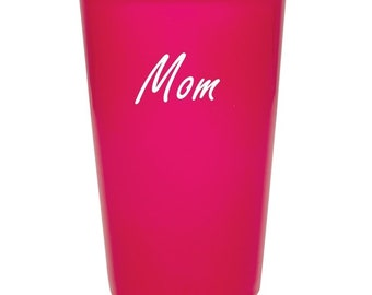 Mothers Day Ceramic Latte Coffee Mug - 14 ounce with a Silicone Lid - Choices of Color, Name, Date, Color Lid, Font & Text - Custom Engraved