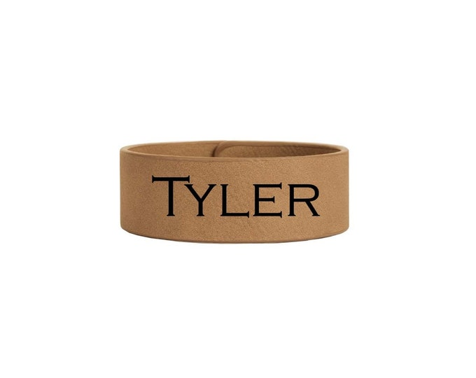 Wrist Bracelet including Choices of Color, Size, Name, Date, Font & Text Personalized Custom Laser Engraved