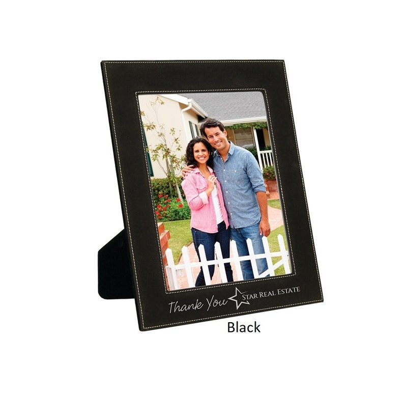 Choice of Colors Photo Frame Wedding Font /& Text Location 8 x 10 Custom Engraved Anniversary Gift Your Text Holiday