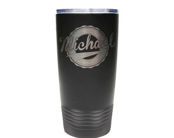 Swoosh Design Name Tumbler - Set of 4 to 15 - Stainless Steel 20 oz with Clear Lid - Custom Engraved - Choice of Colors, Name, Date & Font