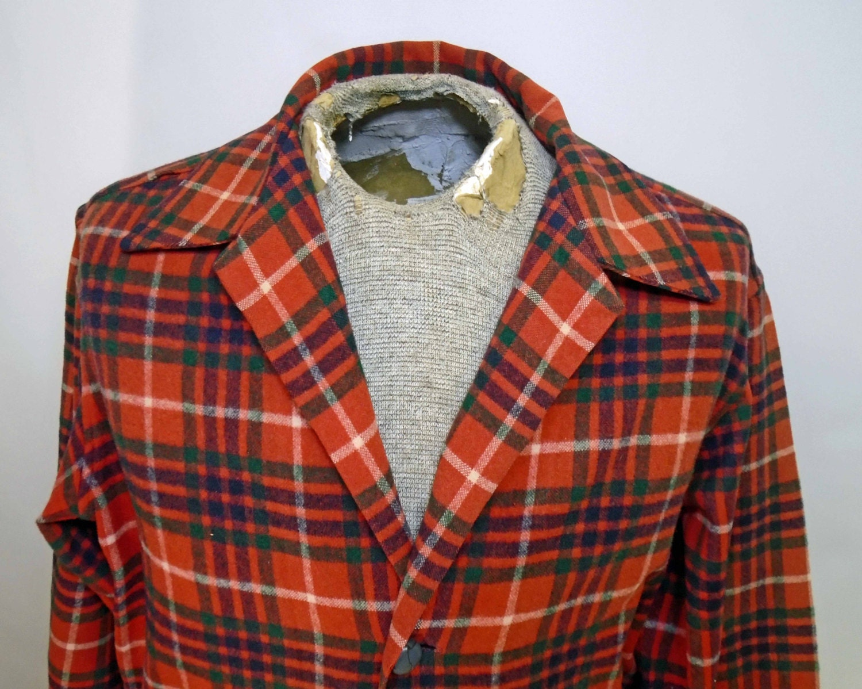 1950s Mens Hats | 50s Vintage Men's Hats Vintage Mens Used Car Salesman Classic 1950s 1960s Red Plaid Wool Sportsjacket Size 38-42R $0.00 AT vintagedancer.com