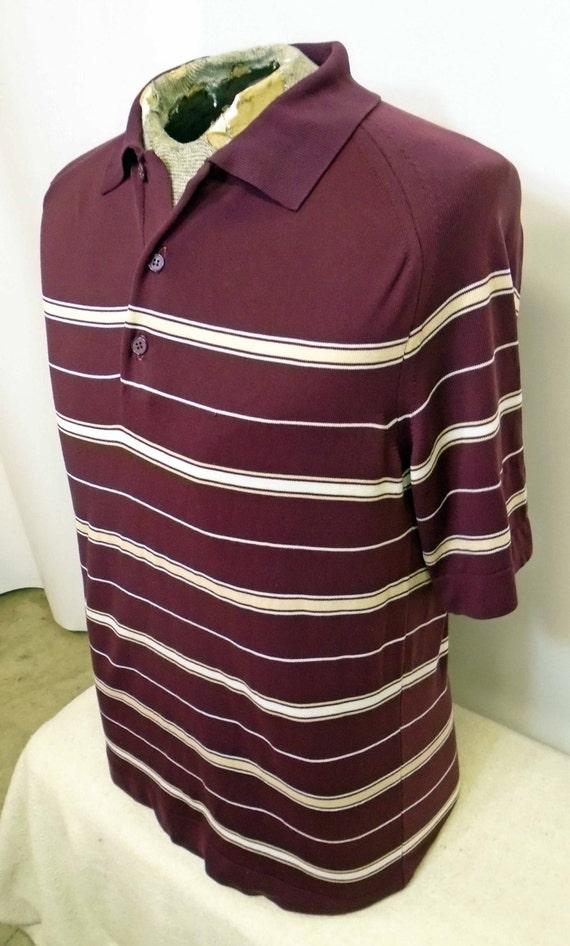Vintage Mid Century or 1980's Striped Men's Polo S