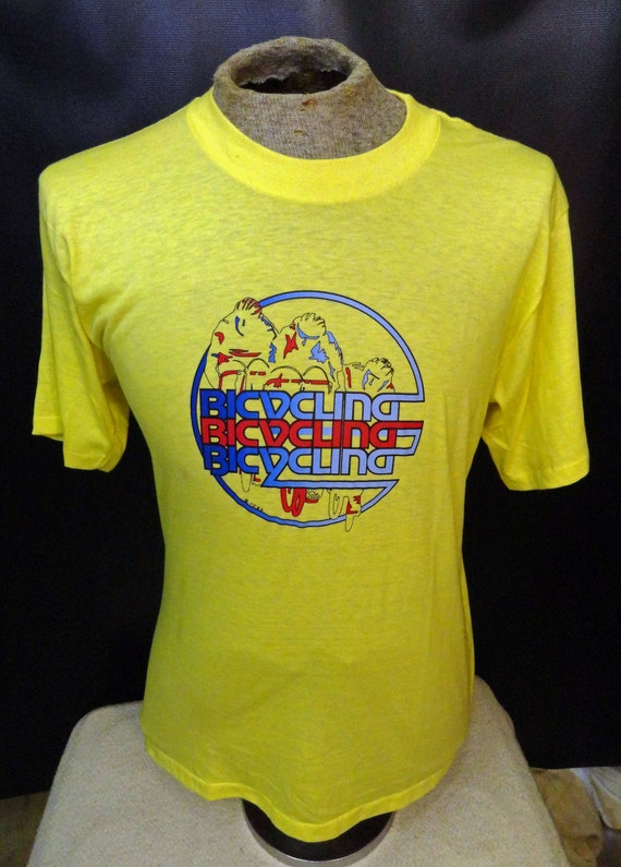 Vintage Men's Bicycling Yellow Blue Red Amazing Gr