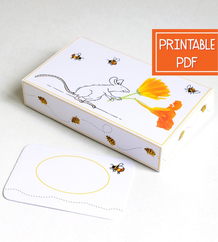 printable gift card box flower mouse diy gift card holder. Black Bedroom Furniture Sets. Home Design Ideas