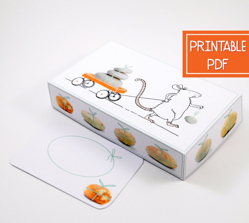 Printable Birthday Gift Box Template DIY Card Holder
