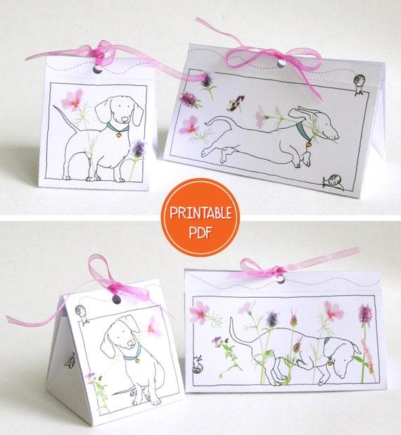 2x Diy Gift Box Dachshund Dog Digital Packaging Template Printable Gift Box Template Digital Download Pdf Gift Wrap Stationary