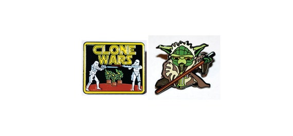 Star Wars Cannabis Clone Wars Hat Pin /& Various Colored Non Stick Silicone Pads.