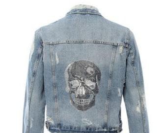 5067349f1ca5 Skull Jean Jacket Hipchik