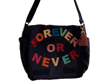 Forever Or Never Blue Messenger Bag - Hipchik