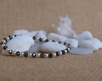 pearl & hematites