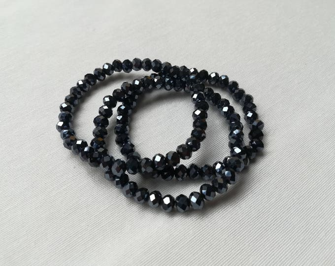 Featured listing image: Hematite faceted Bracelet