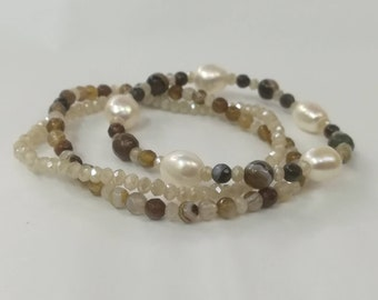 Game Pearl & Brown Agate