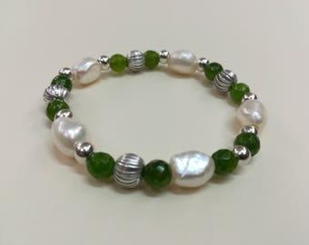 Pearl & Green Agate