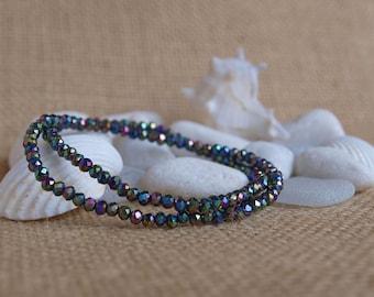 multicolor faceted bracelets