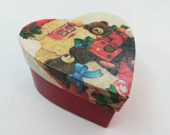 Christmas heart box