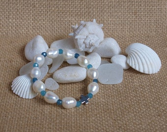 aquamarine child rosary