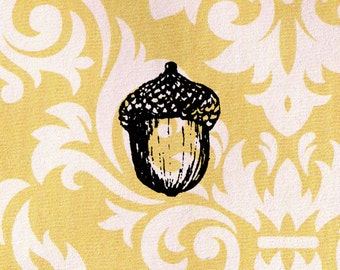 Acorn Stamp: Wood Mounted Rubber Stamp