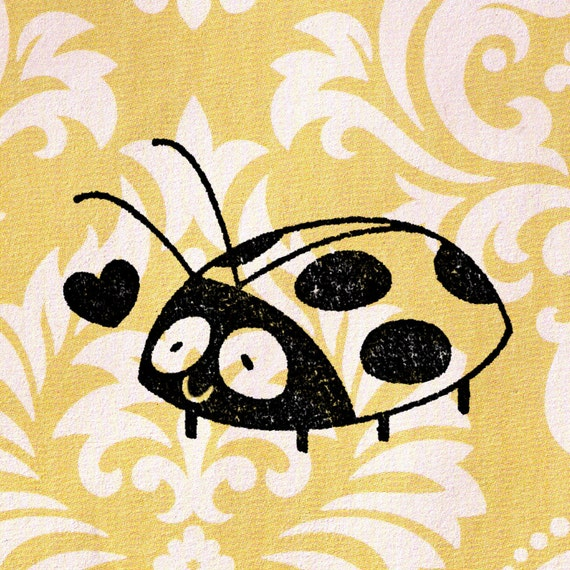 Ladybug Stamp Wood Mounted In Love Rubber