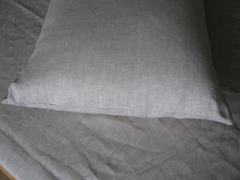 """Twin XL Linen Sheet set Extra Long Oatmeal Beige Light Gray Natural 100% Pure Flax European Bedding Pocket 10'' - 22"""" Medium Weight"""