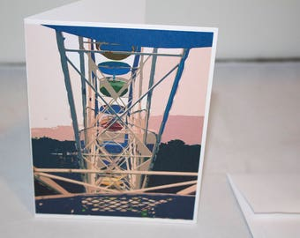Folding note cards Ferris wheel photography - set of 10 note cards with envelopes