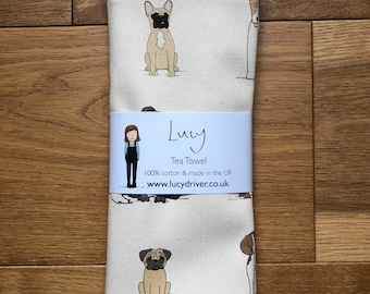 Dog tea towel   Kitchenware   country kitchen   made in the UK