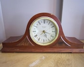 Vintage Mantle Clock, Verichron Quartz Mantle Clock, Westminster chime Clock, farmhouse décor