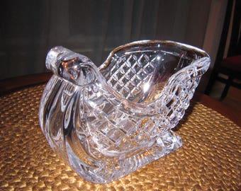 Bohemian/czech Czech Republic 24% Lead Cut Crystal Heavy Heirloom Christmas Decor Ornament