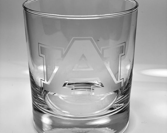 Auburn Tigers Whiskey Glass