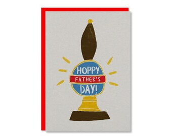 Hoppy Fathers Day Card | Father's day beer card ! Ale card for Dad | Happy Fathers day