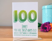 Items Similar To 100th Birthday Card