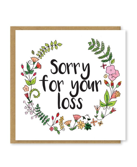 Declarative image with printable condolence cards