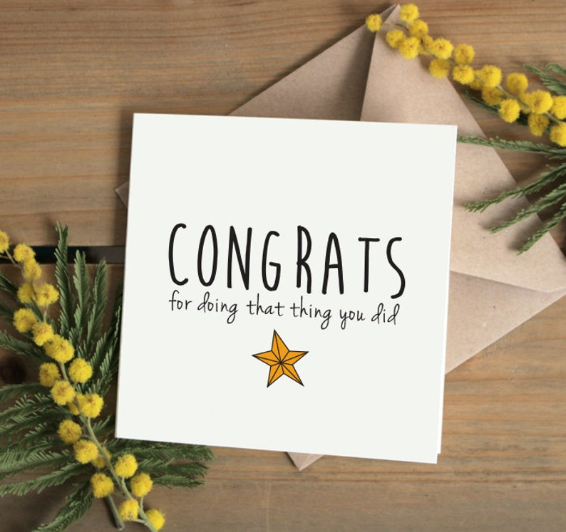 Congrats for doing that thing you did Greetings Card UK good work Well done Congratulations card